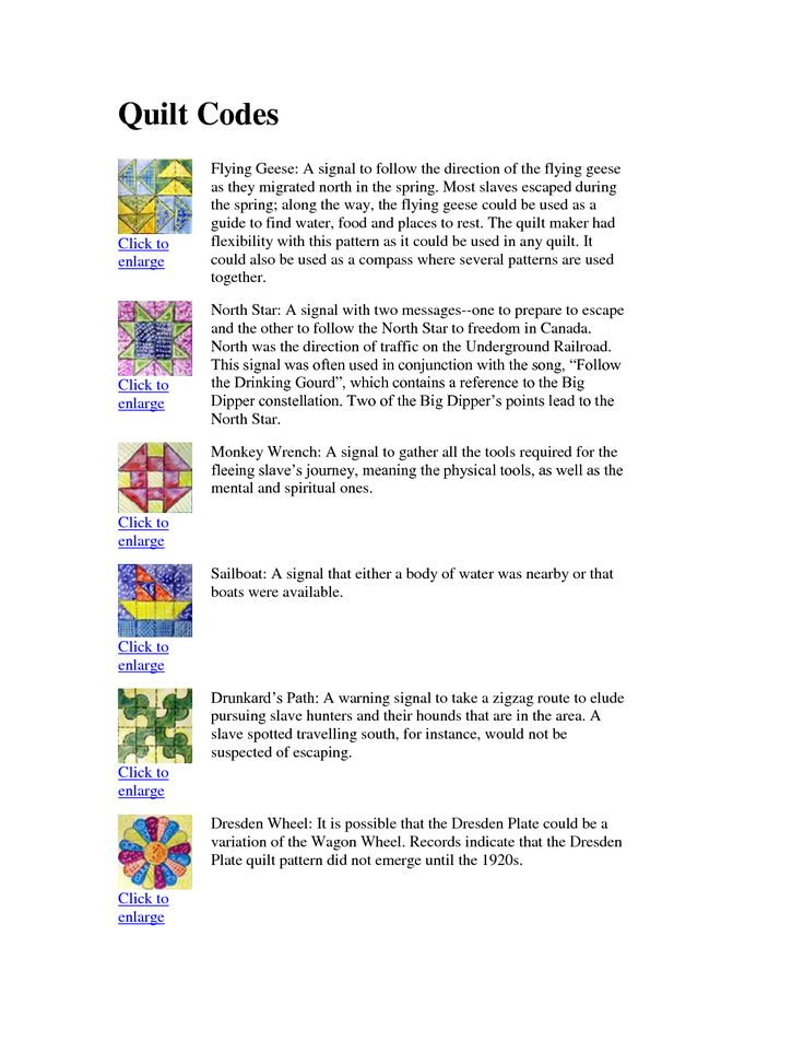 Freedom Quilt Patterns And Meanings