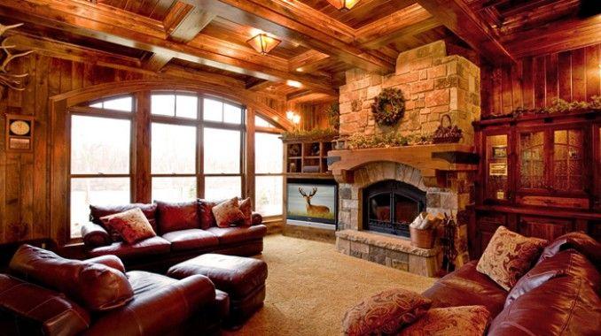 Family Room Brown Sofa