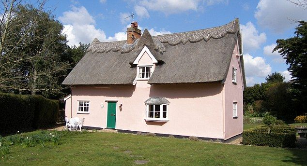 A Thatched Cottage In Stutton England Painted The Proper