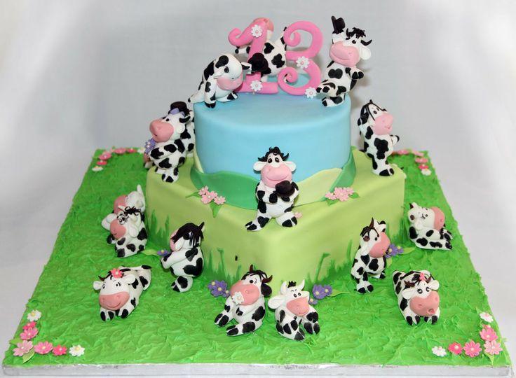 Animal Cake Print Blue Shower Baby