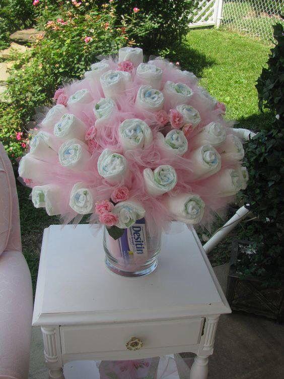 Gift Centerpieces Shower Ideas Baby