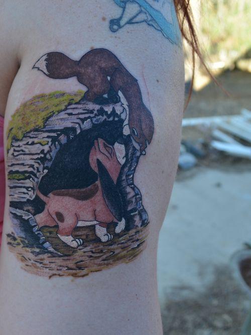 Fox And Hound Tattoo