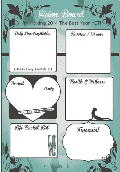 Business Vision Board Printables