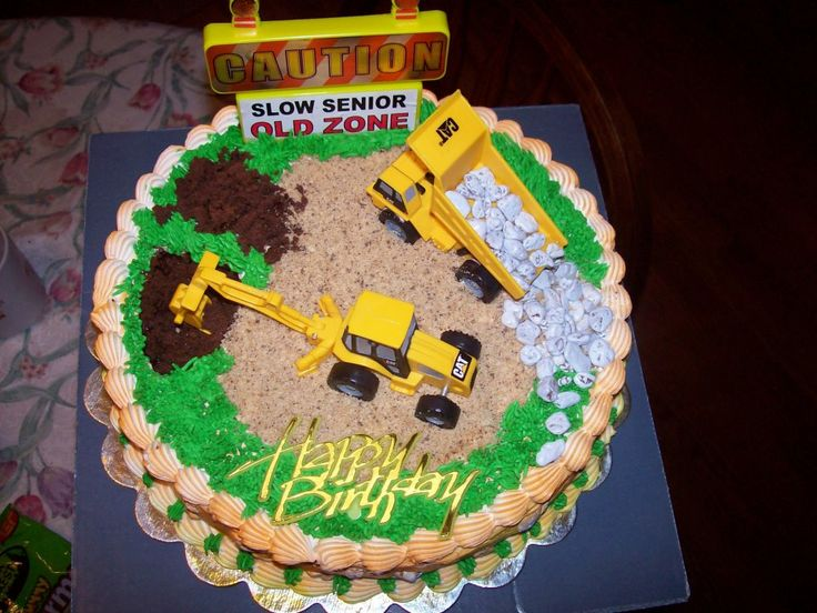Construction Cake I Made For A Heavy Equipment Operator On
