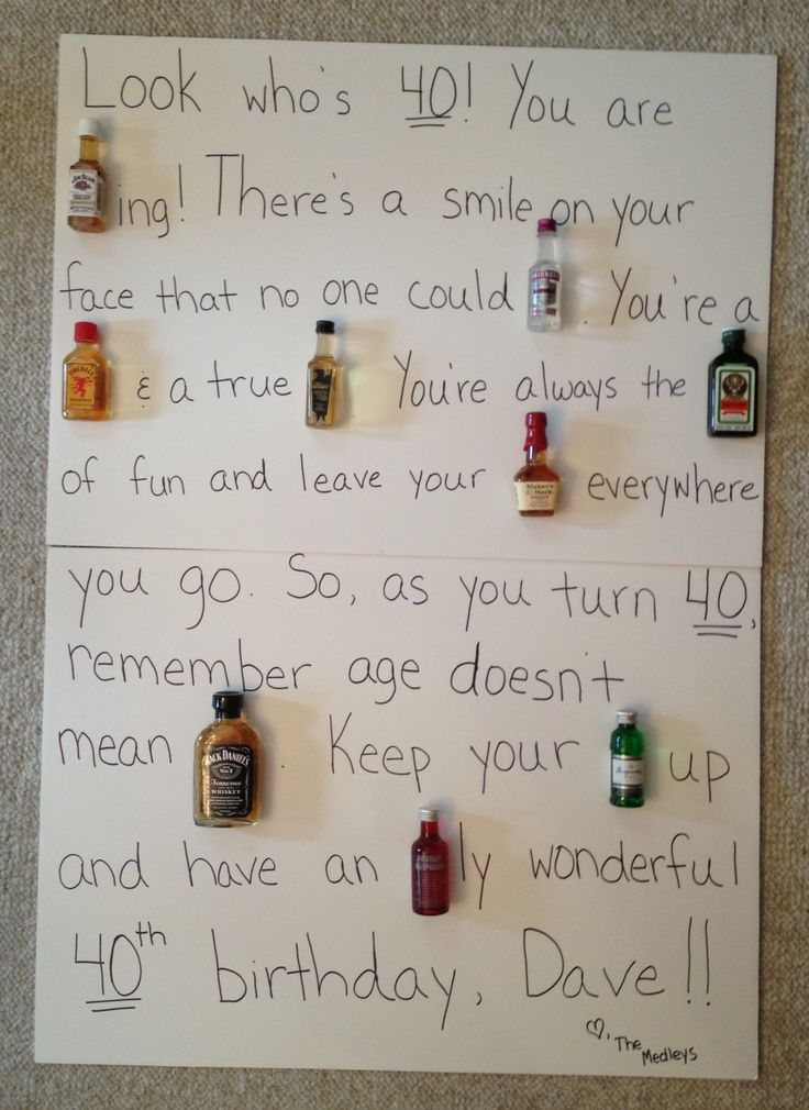 40th Birthday Liquor Poem Quot Look Who S 40 You Are Beam