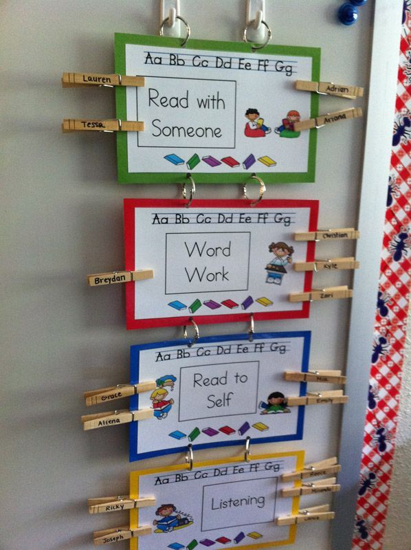 Kindergarten Center Rotation Ideas