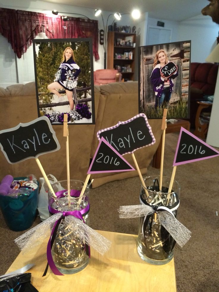Homemade Graduation Centerpieces