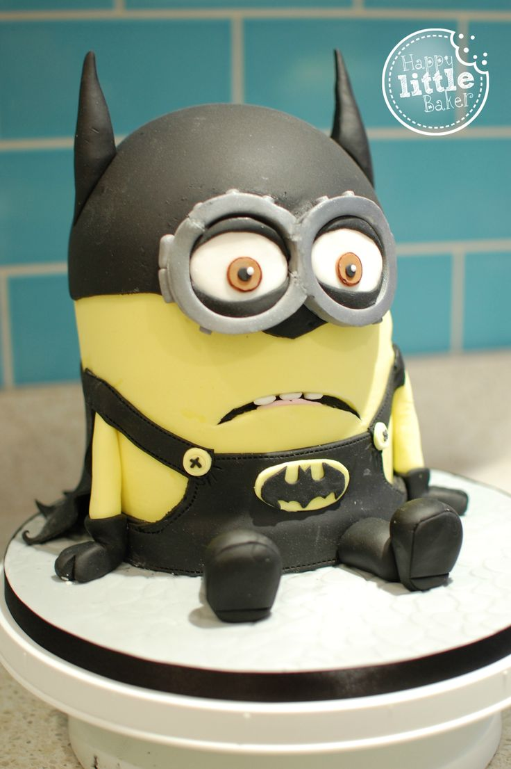 Batminion Batman Themed Minion Cake Made For My Little
