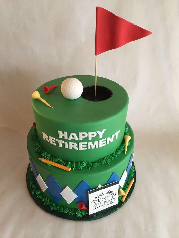 Golf Cake Retirement Cake Fondant Argyle Tees