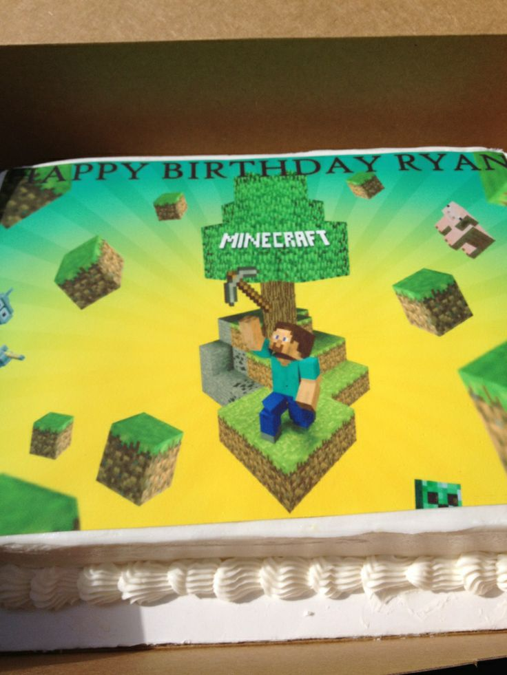Minecraft Cakes Pictures Minecraft Birthday Cake October
