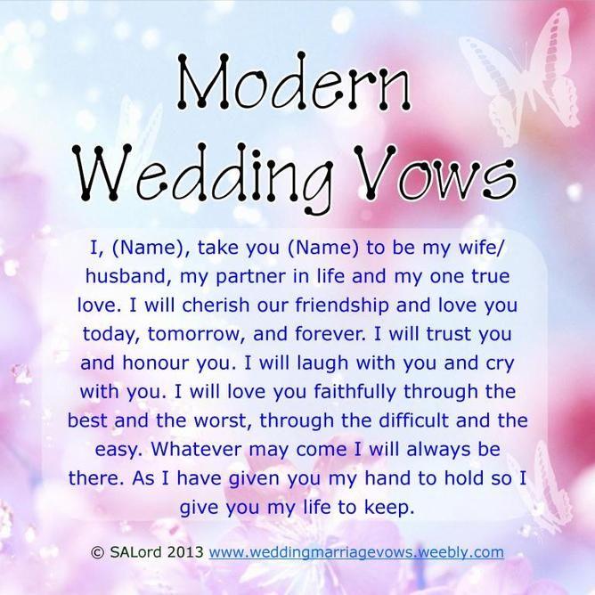 Civil Wedding Vows