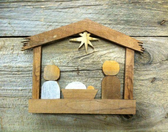 Pallets Wooden Out Making Manger Nativity