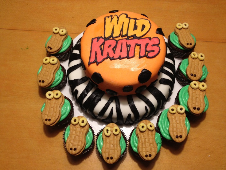 Wild Kratts Cake With Alligator Cupcakes Parties