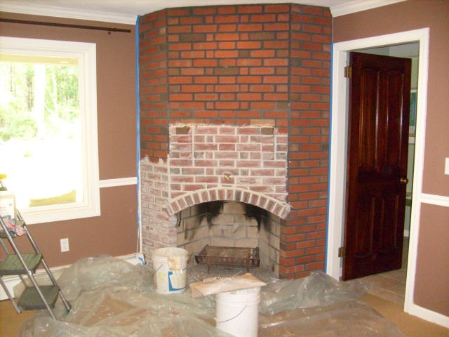 Paint Grout Stone Fireplaces