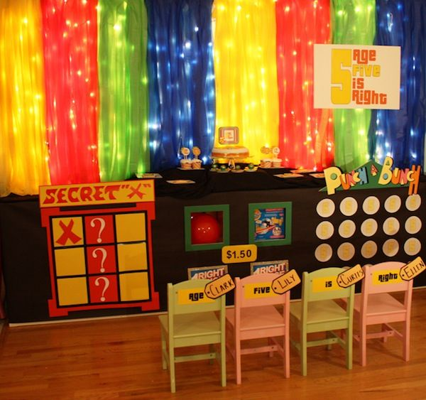 Game Table Show Decorations Party