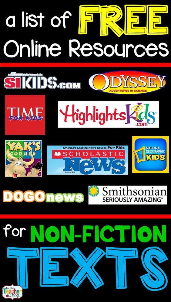 Non Fiction Text Anchor Chart Organization