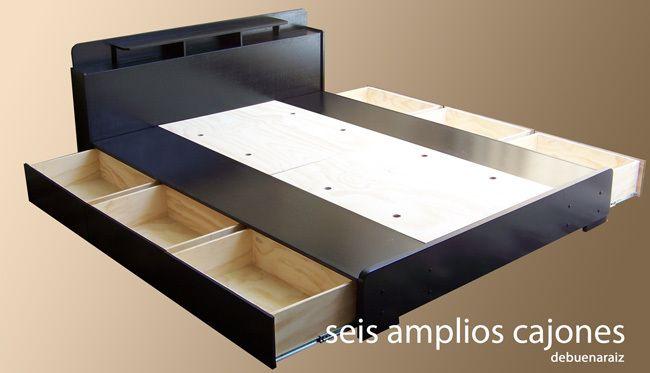 Base Para Cama Minimalista 100 Madera Muebles Bufets