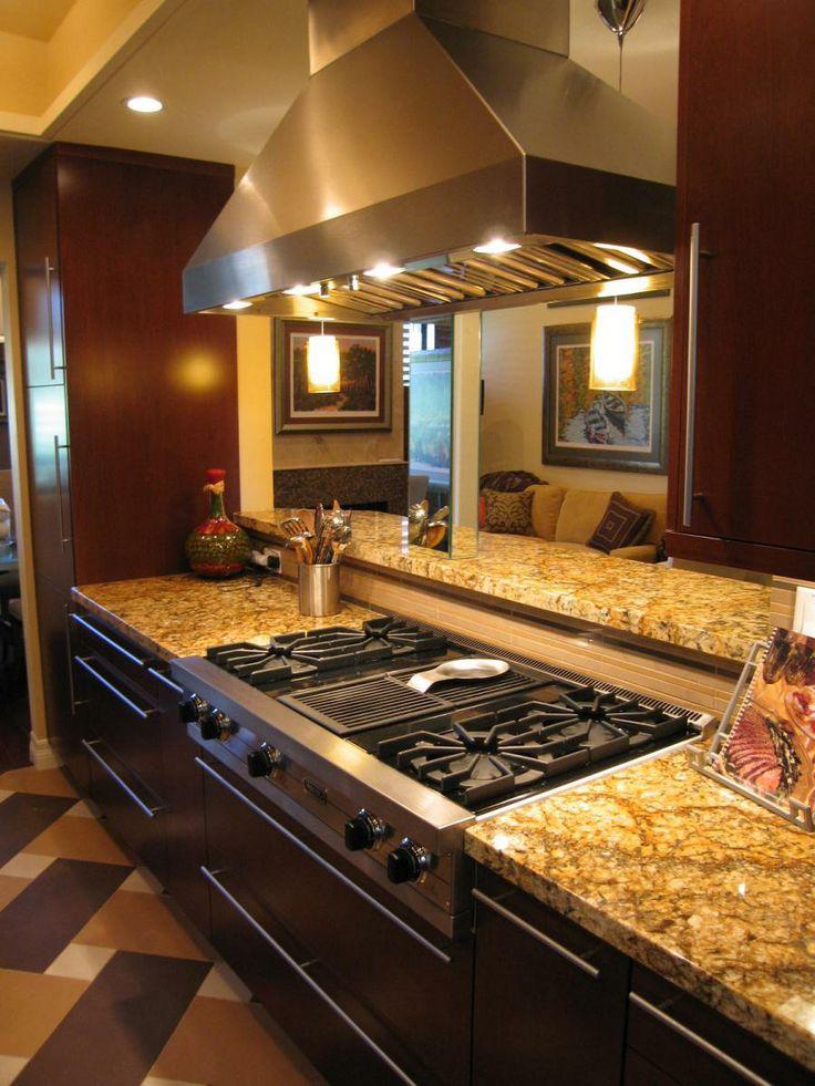 Designs Island Galley Kitchen