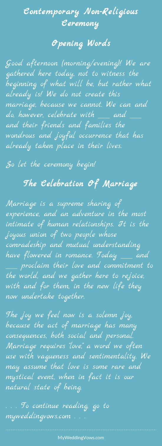 Modern Christian Wedding Ceremony