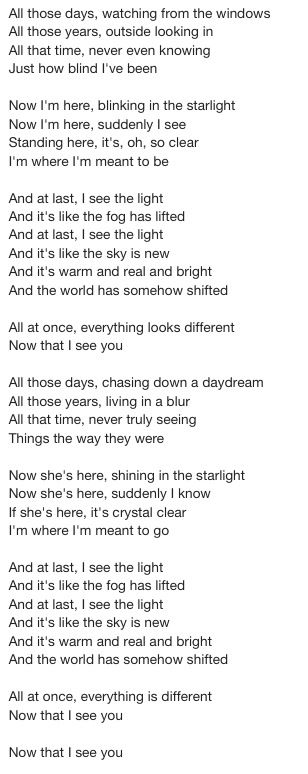 Tangled I See Light Lyrics