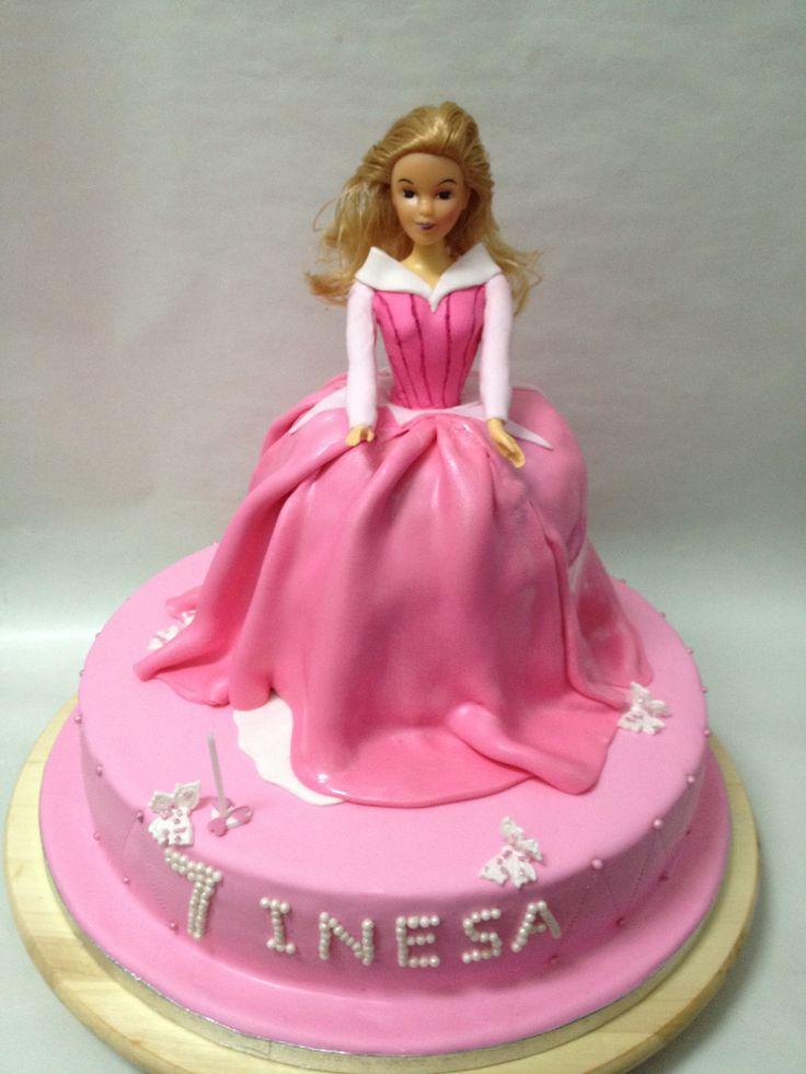 Princess Aurora Cake Fondant Cakes Pinterest