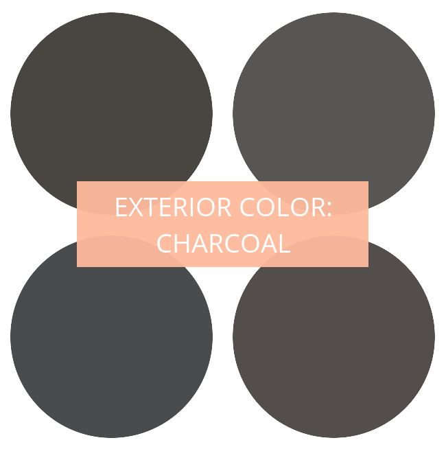 Exterior Paint Color Charcoal Colors Clockwise From Top