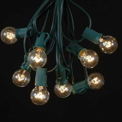 Clear Globe String Lights Outdoor