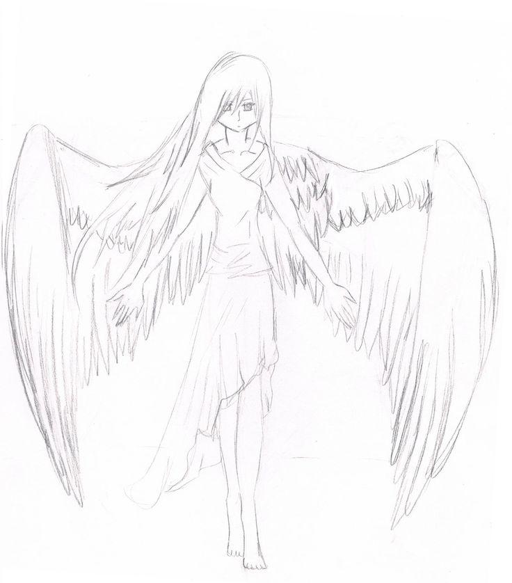 Fallen Easy Drawings Angel