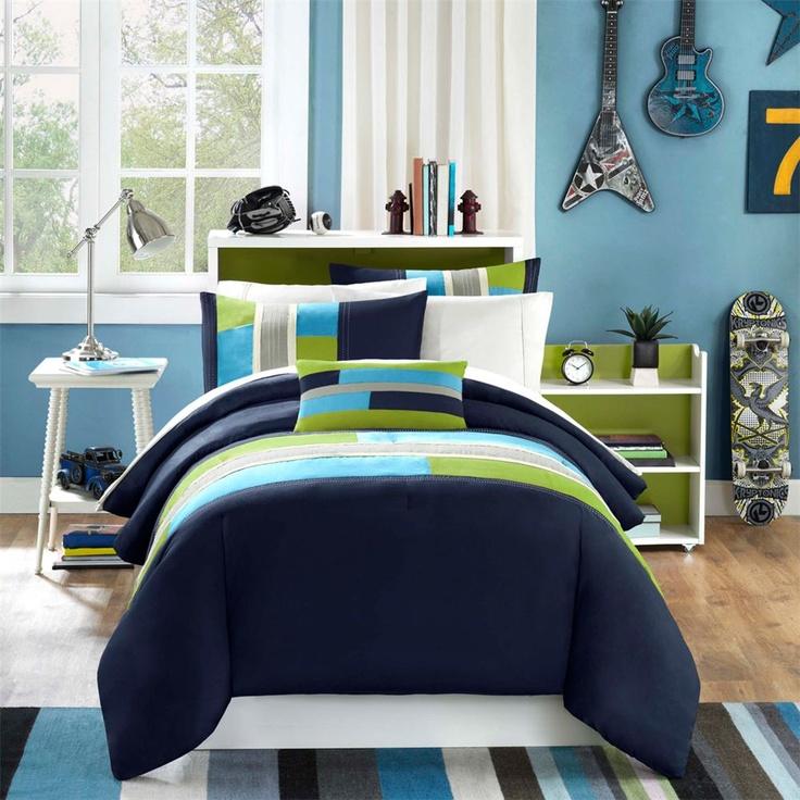 Mizone Pipeline 4 Piece Teen Boy Comforter Set Teen Boy