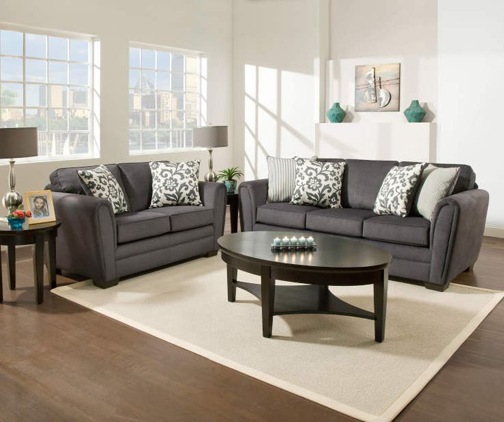 Sofa Charcoal Grey Loveseat And