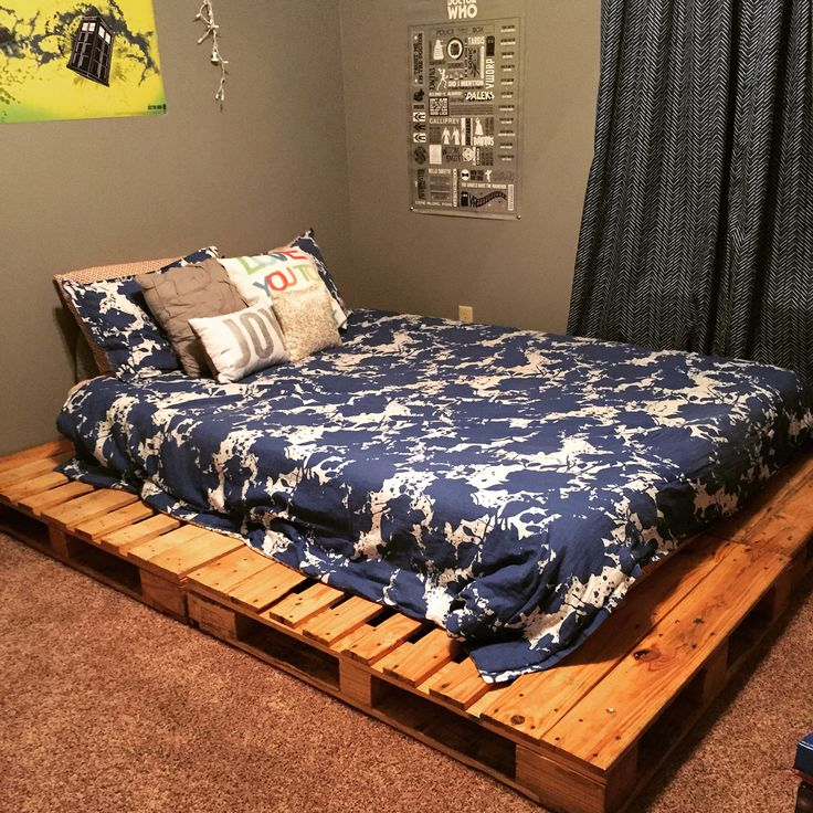 Queen Size Pallet Platform Bed Pinterest Success At The