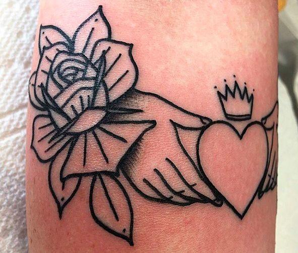 Ring Tattoos Back Claddagh