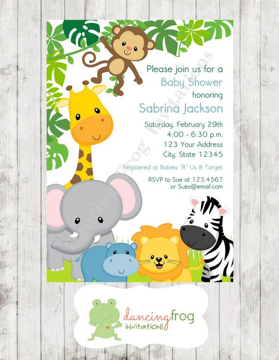 Frog Baby Shower Invitations