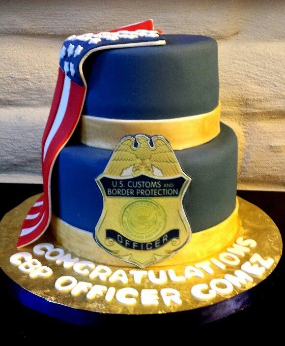 Border Patrol Graduation Cake Dulce Cakes Pinterest
