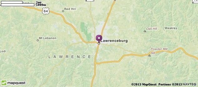 Lawrenceburg Lawrence Tn Listing Road Mapping Co S