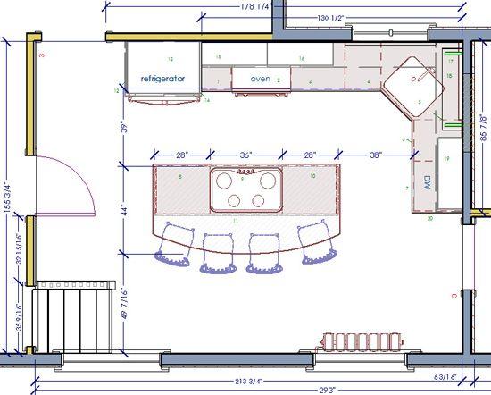 Small Kitchen Blueprints 19 X 12