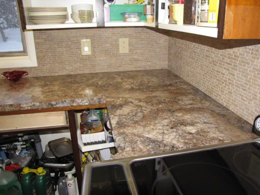Formica Countertop Backsplash And All One