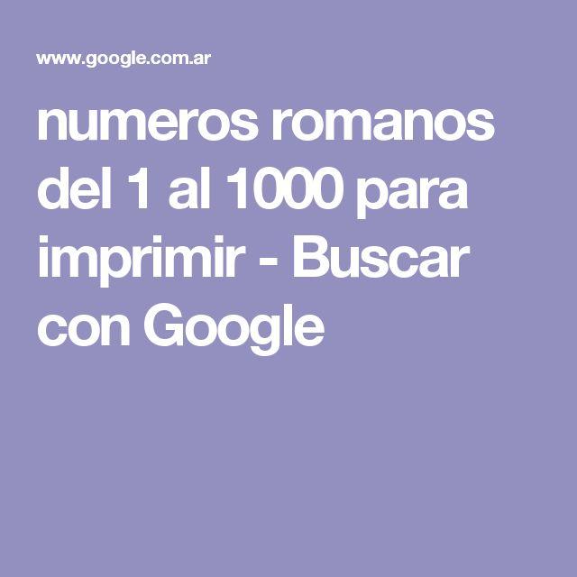 Romanos Del Completos 1 1000 Numeros Al
