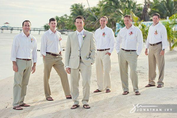 Beach Wedding Groomsmen