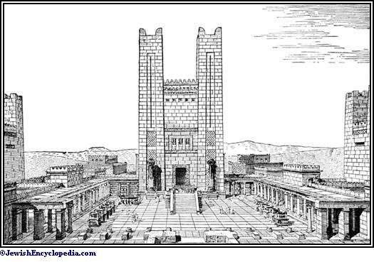 Diagram Jerusalem Temple Second