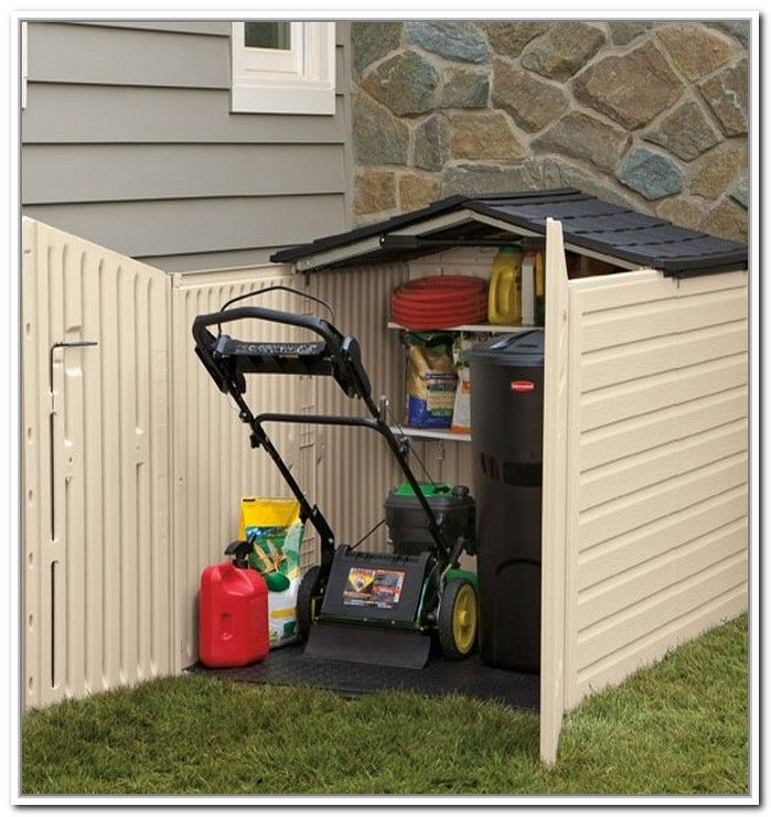 Outside Lawn Mower Storage