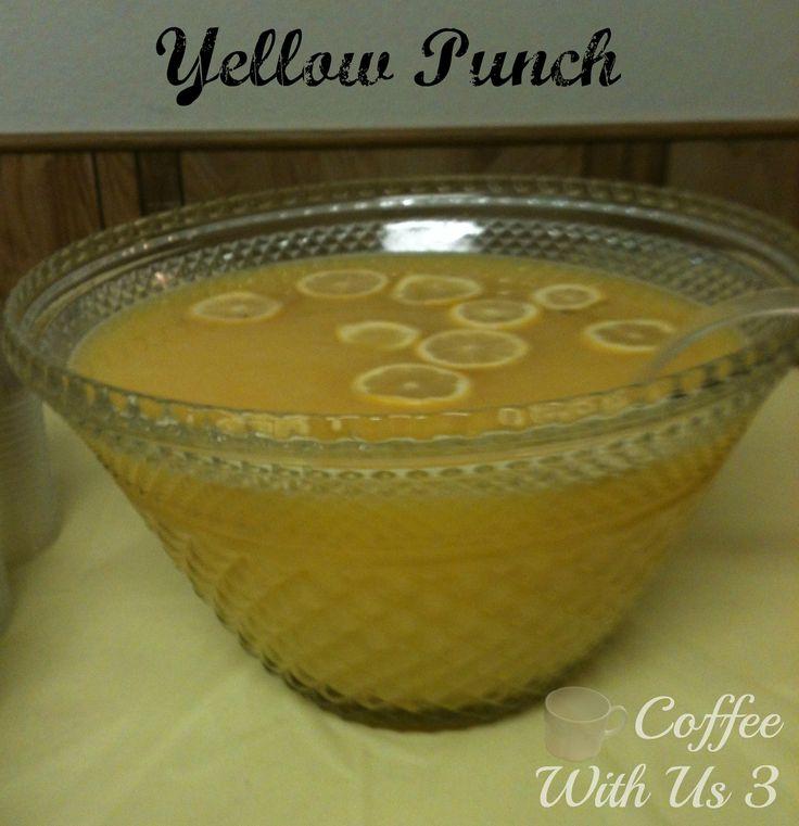 Yellow Punch Recipe Baby Shower