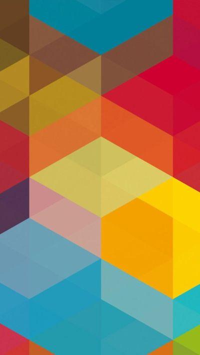 Colourful Geometric background pattern - Beautiful iPhone ...