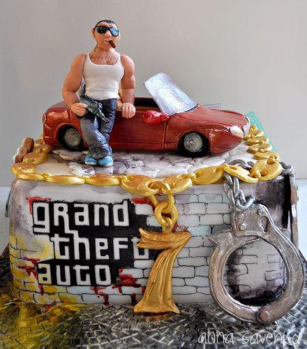 Grand Theft Auto Cake Xbox One Cakes And Grand Theft Auto