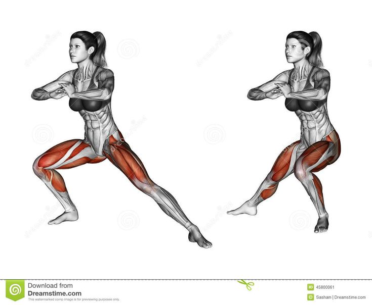 Dumbbell Lunges Muscles Worked