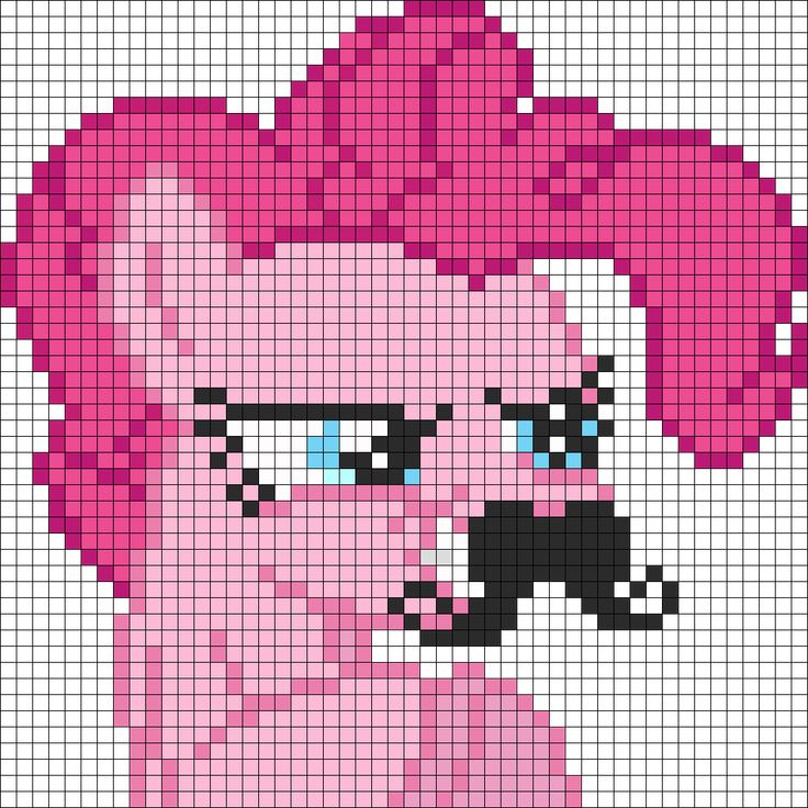 Pixel Templates Minecraft Art Pinkie Pony Pie