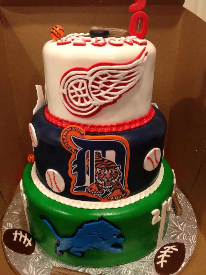 Teams Detroit Cake Sports