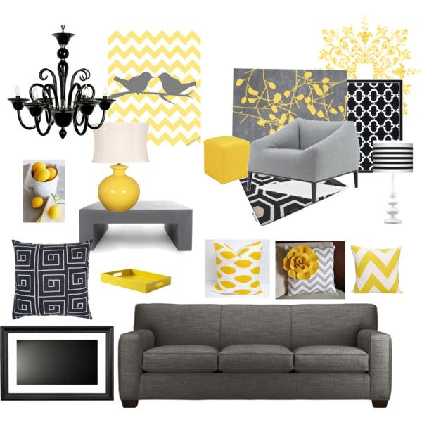 Yellow And Grey Home Decor