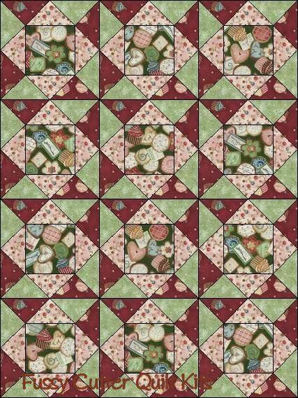 Baby Quilt Fish Block 1