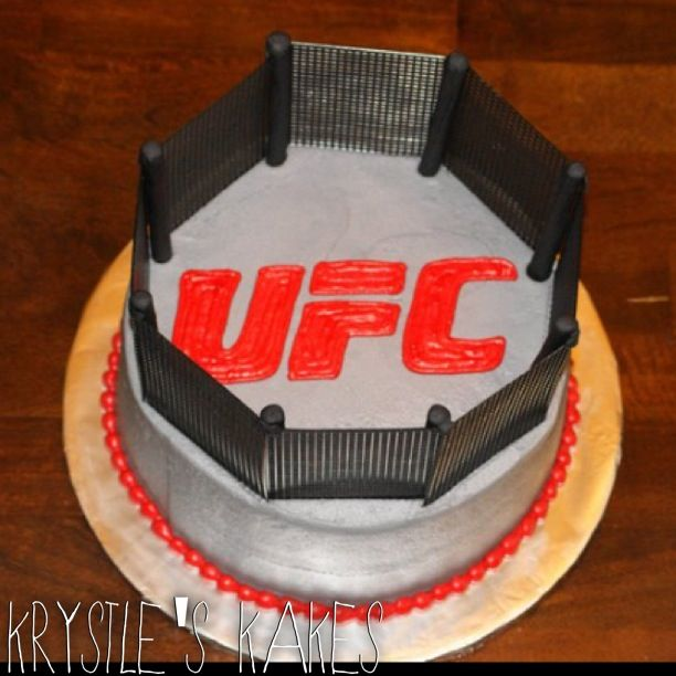 Ufc Fighting Octagon Groom S Wedding Cake Cake Life Is